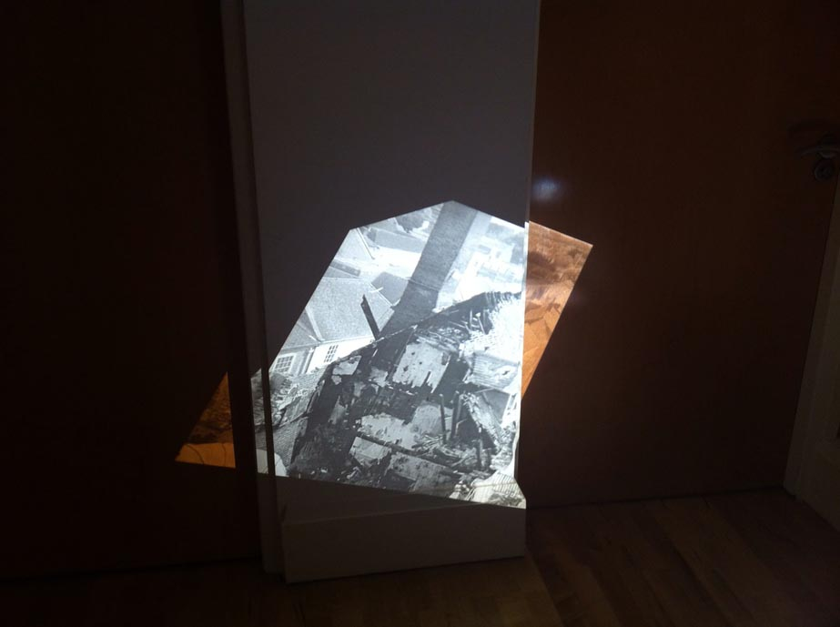 Maria Christoforatou [2015] Constructing spaces series. OHP projector installation.