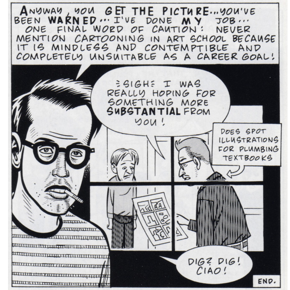 Daniel Clowes [1991] Art School Confidential. Eightball #7, Nov 1991.