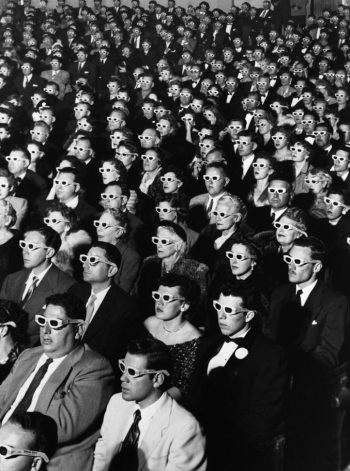 J.R. Eyerman [1952] Audience at the opening-night screening of Bwana Devil, the first full-length colour 3-D movie. Paramount Theatre, Hollywood, 26 Nov … <a href=