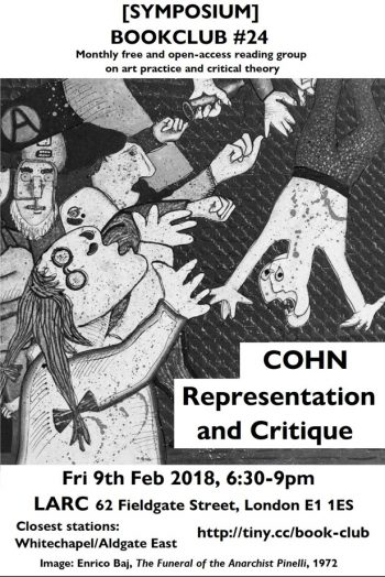 [SYMPOSIUM]#24 Cohn Representation and Critique. Flyer by Aris Nikolaidis.