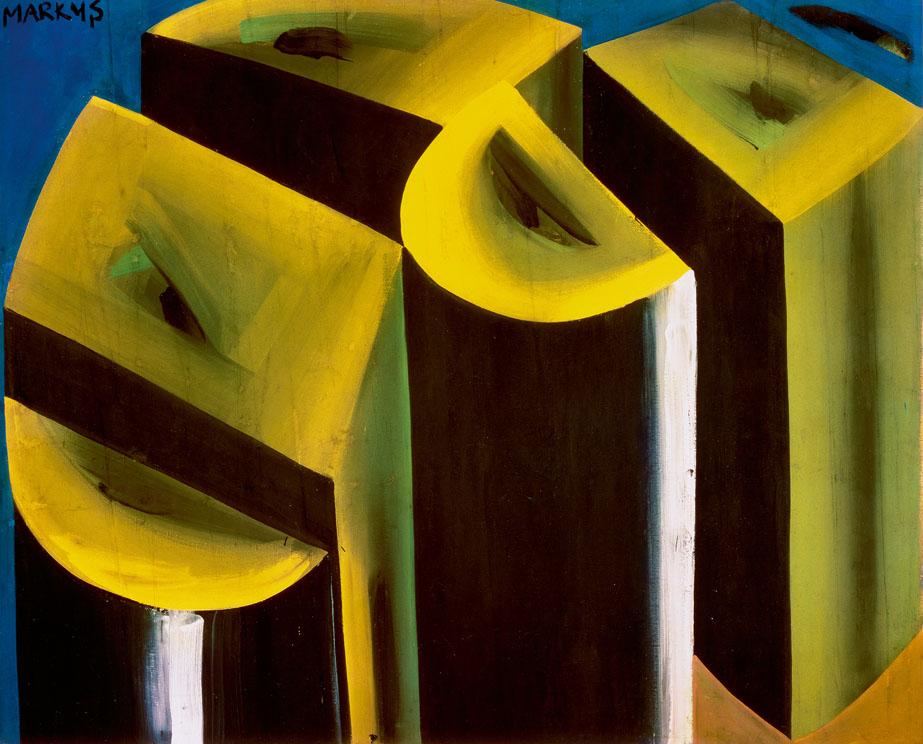 Markus Lüpertz [1965] Schuhabdruck—dithyrambisch (Shoe print—Dithyrambic). Ströher Collection, Darmstadt, Germany.